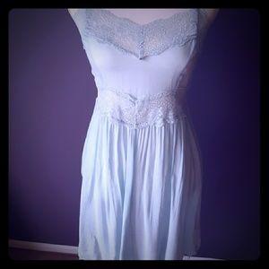 ~Intimately~ Free People Blue Dress Slip Small